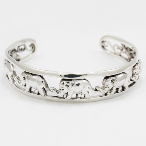 Bracelet bangle argent 925 éléphants